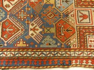 Antique Genjeh Prayer Rug. Antique Caucasian prayer rug, actually used as a prayer rug.