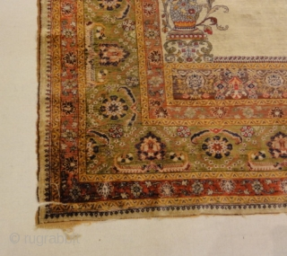 Antique Silk Turkish Prayer Rug