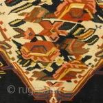 "Antique Persian Finest Silk Bijar Kelim  Handspun Natural Dyed Wool All Handmade Carpet Genuine Woven Art Santa Barbara Design Center Antique Persian Silk Bijar Kelim  4'1"" x 6'7"""