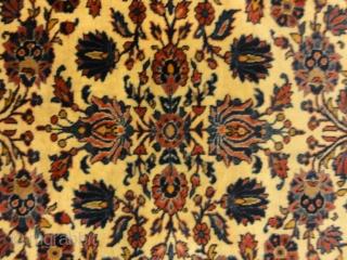 "Antique Persian Wool Kashan Kork circa 19th Century Handspun Natural Dyed Wool Hand Made in Persia Genuine Woven Carpet Art  4'5"" x 6''8"""