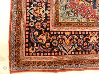 Antique Intricate Persian Kashan with Flower Medallion Santa Barbara