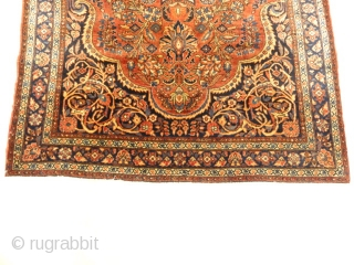 "Antique Rare Persian Sarouk Prayer Rug. Genuine woven carpet art. Authentic and intricate design.  3'4"" x 4'10"""