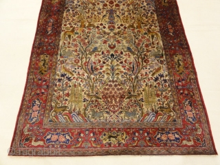 Fine Antique Silk Persian Kashan Tree of Life Rug Genuine Woven Carpet Art Intricate Santa Barbara Design Center Rugs and More