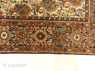 "Antique Persian Farahan All-over Botteh Fine Authentic Design Genuine Carpet Art  4'1"" x 6'7"""