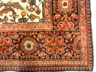 Fine Antique Persian Farahan Kork Wool Genuine Woven Carpet