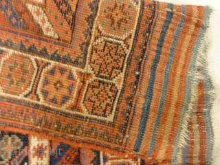 "Antique Persian Afshar Botteh - Size: 3'8"" x 5'4"""
