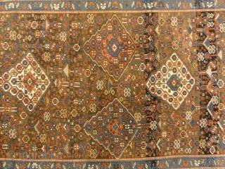 "Antique West Persian Kurdish Rug  - Size: 4'6"" x 8'"