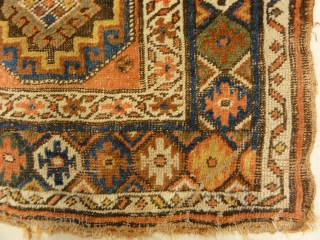 "Antique North West Persian Kurdish Rug - Size: 4'2"" x 6'6"""