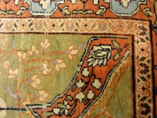 """Antique Sarouk Farahan Woven Circa 1880 - Size: 4'4"""" x 6'1"""""""