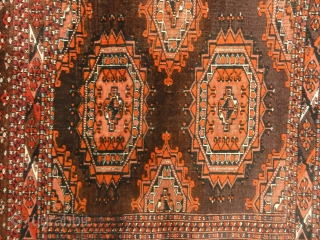 Antique Saryk Juval Turkoman Wool - Size: 3' x 5'8""