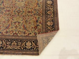 "Antique Mohtashan Kashan Rug - Size: 4'6"" x 7'"