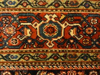 "Rare Antique Persian Henna Flower Fine Herati Farahan - Size: 4 x 6'3"""