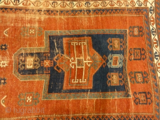 Antique Caucasian Fachralo Kazak Prayer Rug