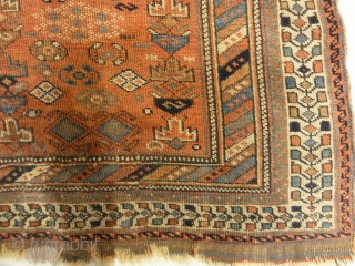 """Very Antique Persian Afshar The Oldest Afshar We Have  4'2 """"x 5'6"""""""
