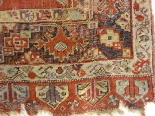 """Antique Turkish Handwoven Mujur / Kirshehir Rug  3'10"""" x 5′"""