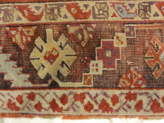 Antique Turkish Handwoven Mujur / Kirshehir Rug