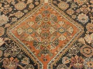 Antique Persian Qashqai featuring Tribal Flowers