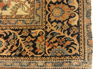Extraordinarily Finely Knotted Exemplary Farahan Rug - Size: 4'4″ x 6'8″