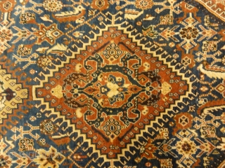 Antique Persian Qashqai Rug in Perfect Condition - Size: 4′ x 7'7″