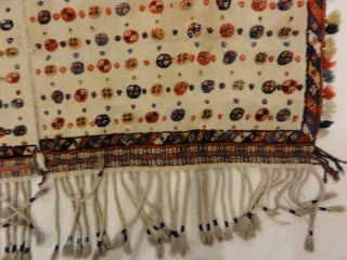 Antique Qashqai Saddle Cover 3′ x 5′