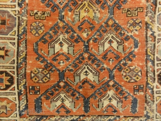 Antique Rare Size and Design Soumak Rug
