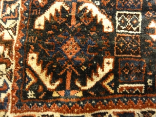 Antique Khamseh Original Southwest Persian Rug