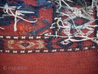 Turkoman flatweave, good condition, 20th century