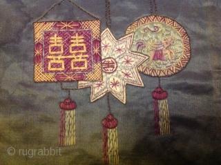 Chinese antique taxtiel Silk  60cmx50cm
