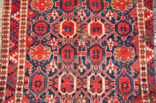 Turkmen Beshir fragment as found ( cut/shut/ blisted ) 102 x 170 cm / 3'4'' x 5'6''