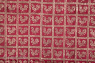 Indian Brocade ( Zari ) Fragment 87 x 96 cm / 2'10'' x 3'1''