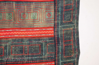Hmong Indigo resitdyed, aplliqued and embroidered Panel 165 x 236 cm / 5'4'' x 7'8''