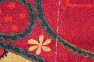 Uzbek Pishkent Suzani 219 x 270 cm / 7'1'' x 8'8''