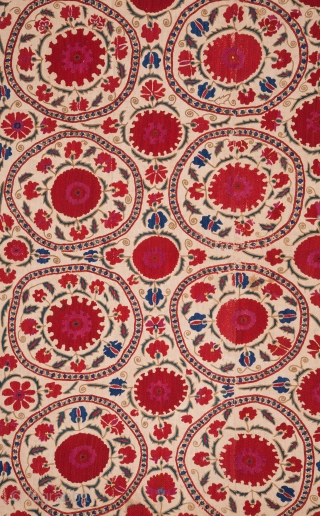 Bukhara Suzani , Uzbekistan 178 x 247 cm / 5'8'' x  8'1''
