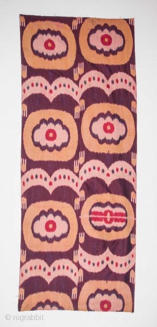 Uzbek Silk Ikat Fragment 87 x 224 cm