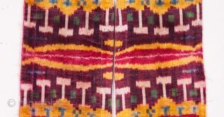 Uzbek Velvet Ikat Fragment 53 x 37 cm