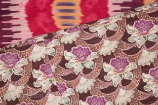 Uzbek Silk Ikat Panel 174 x 230 cm