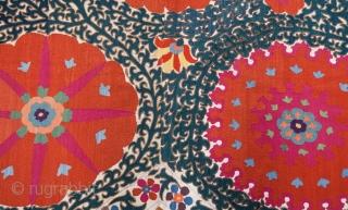 Giant Uzbek Suzani 227 x 311 xm / 7'5'' x10'2''