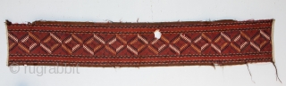 Turkmen Ersari tent Band Fragment 219 x 38 cm