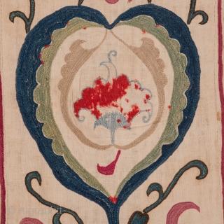 Suzani Fragment from Uzbekistan 40 x 141 cm / 1'3'' x 4'7''