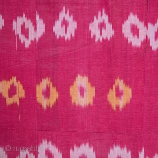 Ikat Hanging From Uzbekistan with a Russian Printed Lining