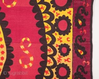 Uzbek Pishkent Suzani 231 x 248 cm