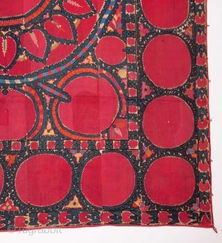 Silk Suzani from Tashkent , Uzbekistan  202 x 250 cm / 6'7'' x 8'2''