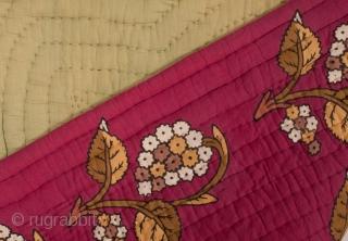 A piece of Anatolian Folk Art; Block printed quilt 82 x 142 cm / 2'8'' x 4'7''