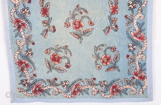 Turkish Hand Block Printed Quilted Prayer Mat Early 20th C. 80 x 151 cm / 31 x 59 inches