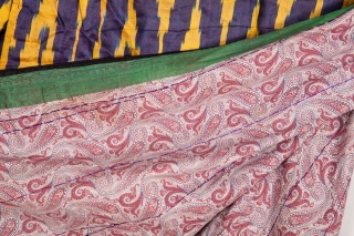 Tajik Ikat Chapan in satin ikat