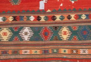 Western Anatolian Kilim 178 x 310 cm / 5'10'' x 10'2''