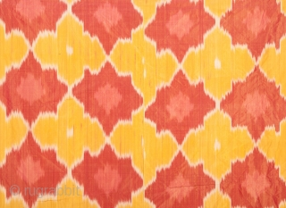 Uzbek Pure Silk Ikat Panel 87 x 116 cm / 2'10'' x 3'9''