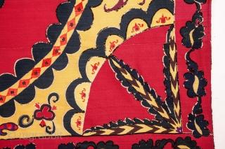 Central Asian Tashkent Suzani 207 x 244 cm / 6'9'' x 8'0''