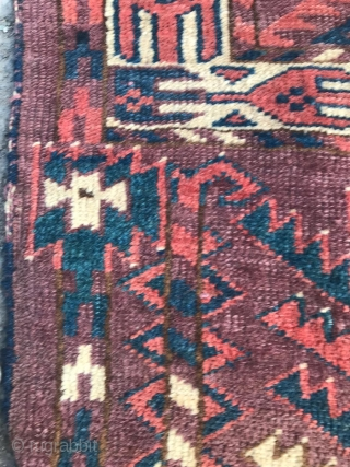 Antique Turkmen Ensi circa 1900's , size: 120 x 165 cm. (there is a hole)