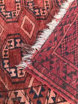 Kizyl Ayak Ersari Turkmen carpet with the 'tauk nuska' ' gul design, 150 x 260 cm.